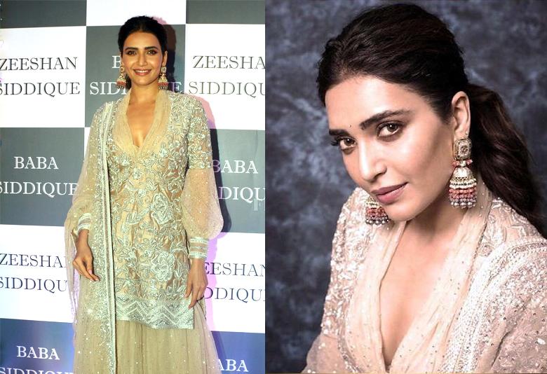 Karishma Tanna wearing jhumkis from Kohar Jewellery