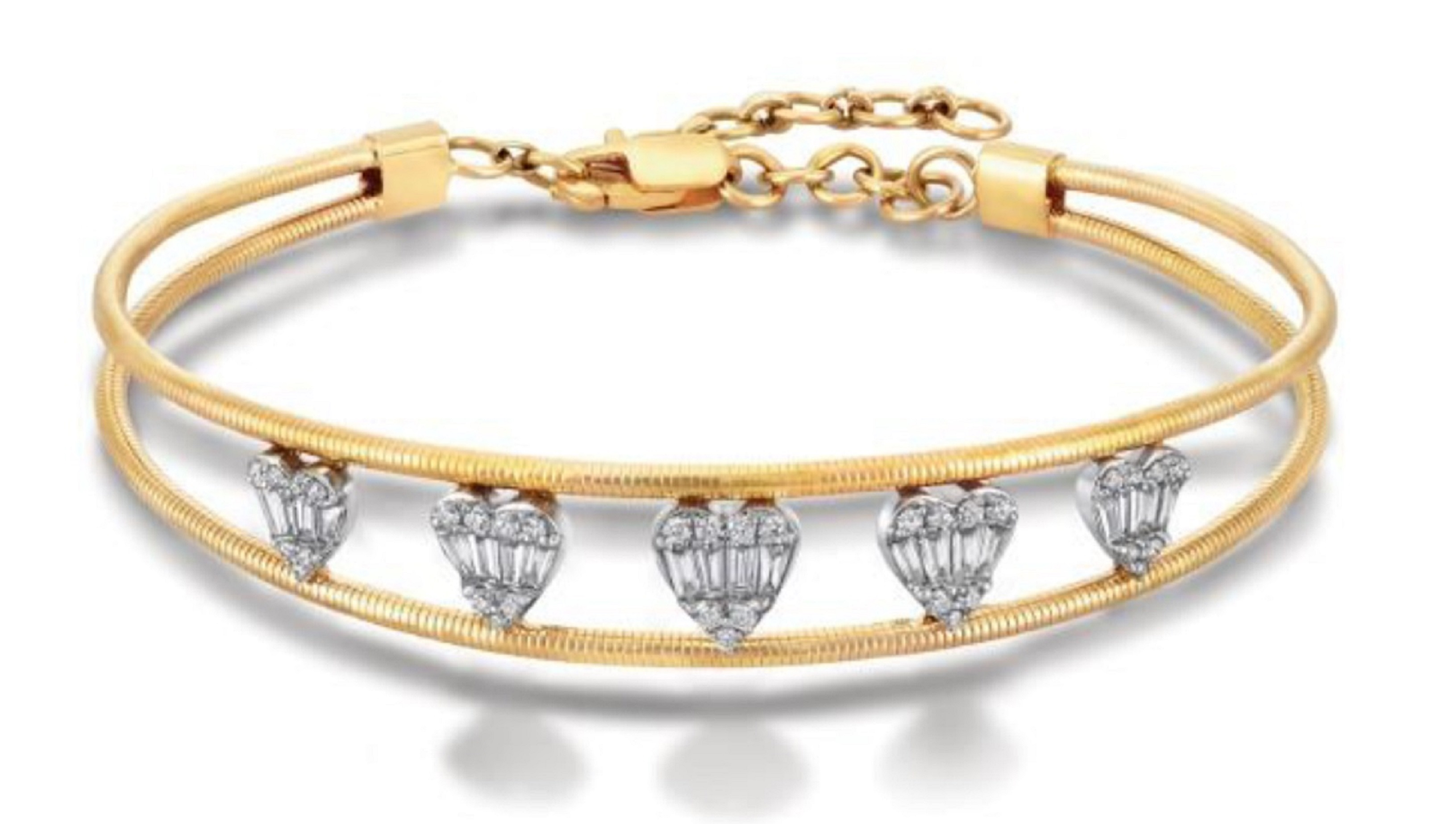 Gold Bracelet with heart