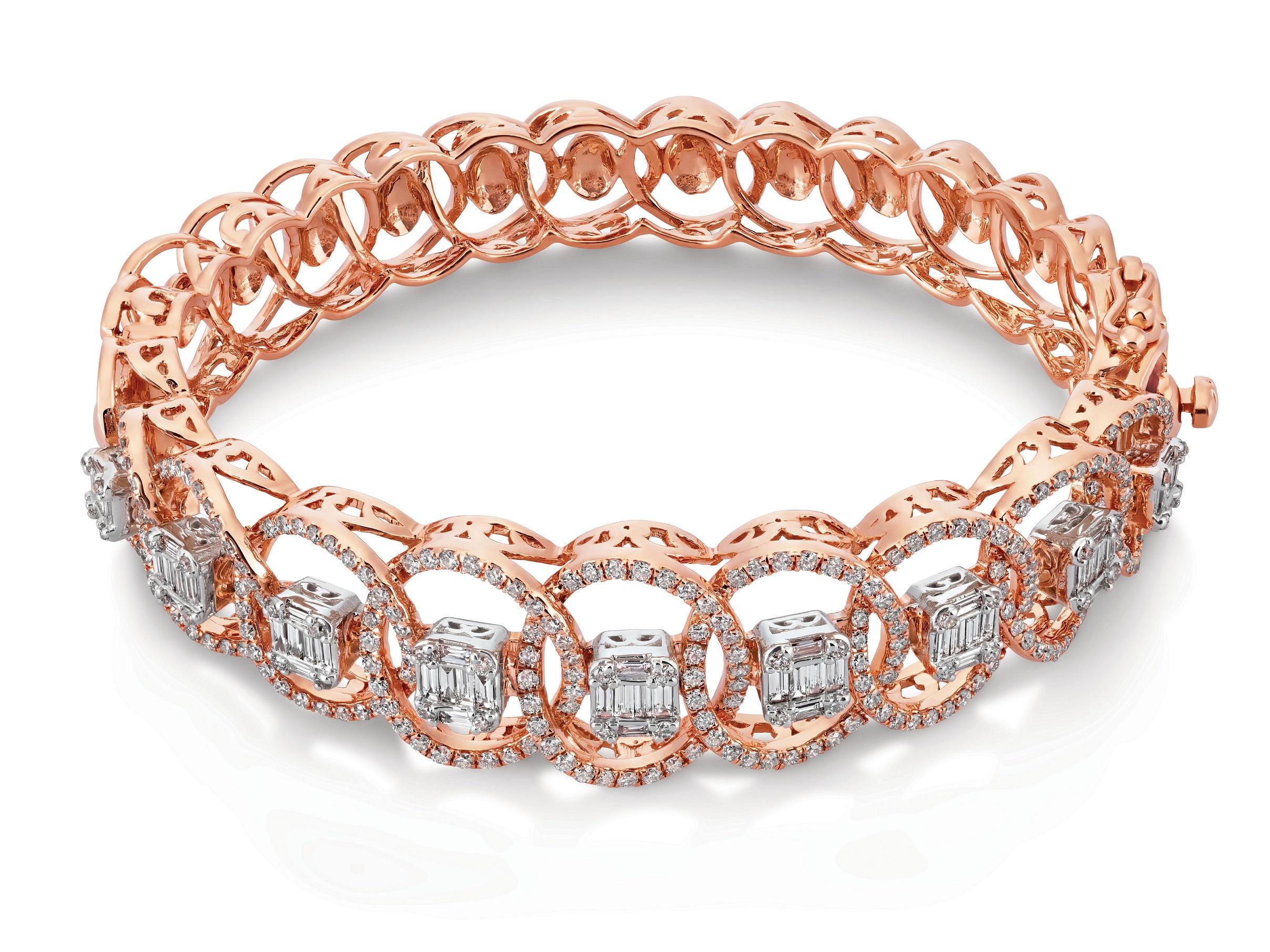 Rose Gold bracelet with diamonds