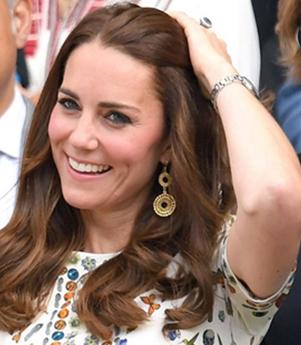 Kate Middleton-gold filigree pendant dangler