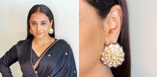 Vidya Balan in jadau earrings