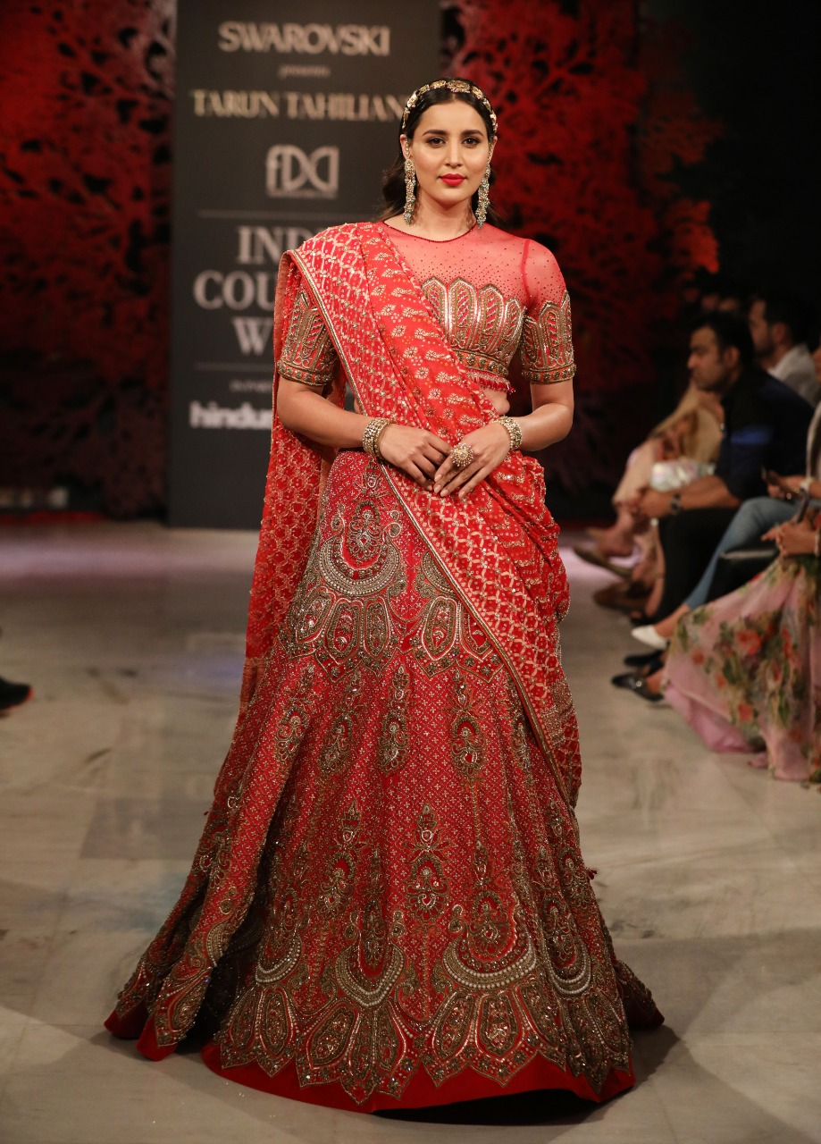 Designer Tarun Tahiliani Presenting his collection @ FDCI India Couture Week 2019