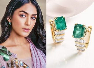 Mrunal Thakur with luscious jewels