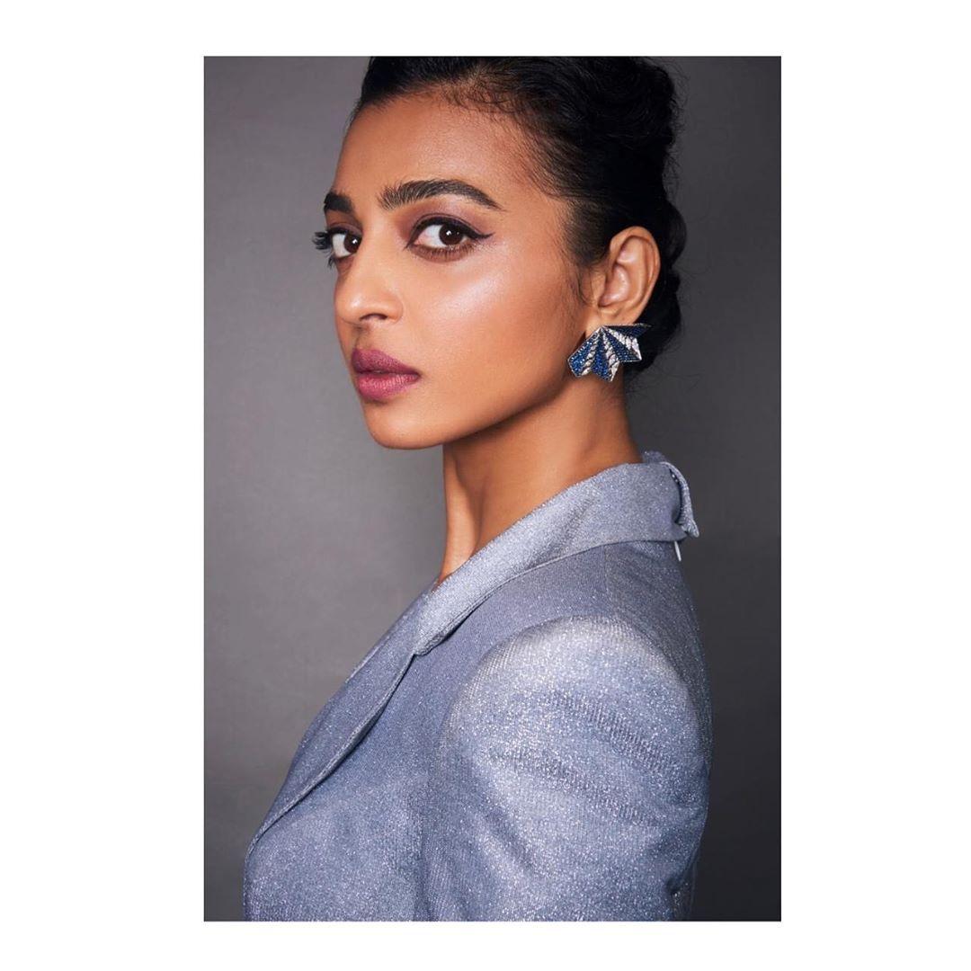 Radhika Apte in statement earrings