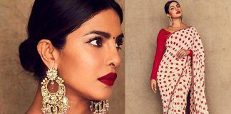 Priyanka Chopra in Sabyasachi Mukherjee Earrings