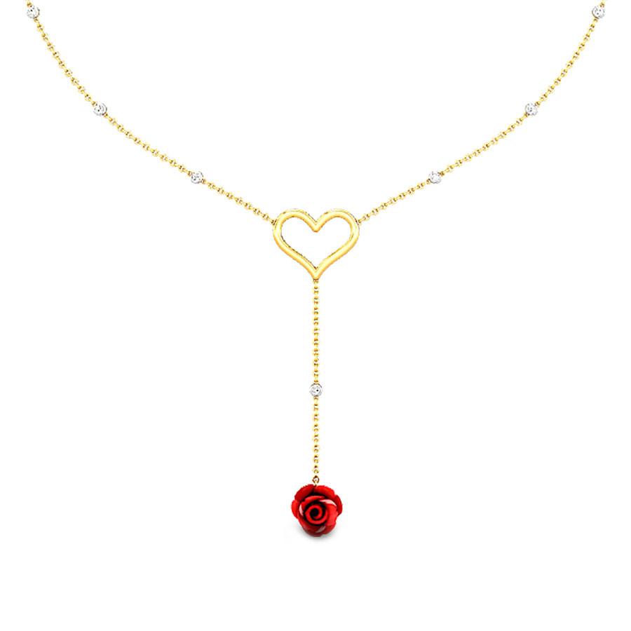 Candere- Lovelyn Gold Gemstone Necklace