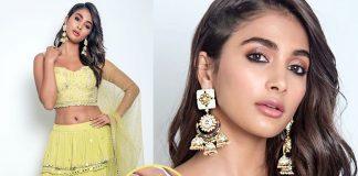 Pooja Hegde in jhumkis and chandbalis