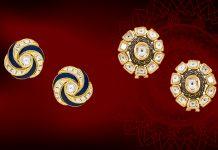 Polki Stud Earrings by Anita Dongre