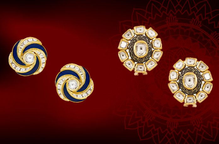 Polki Stud Earrings by Anita Dongre