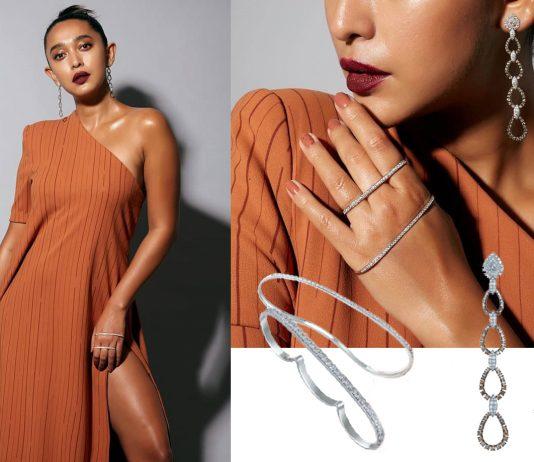 Sayani Gupta in Diamond Jewellery