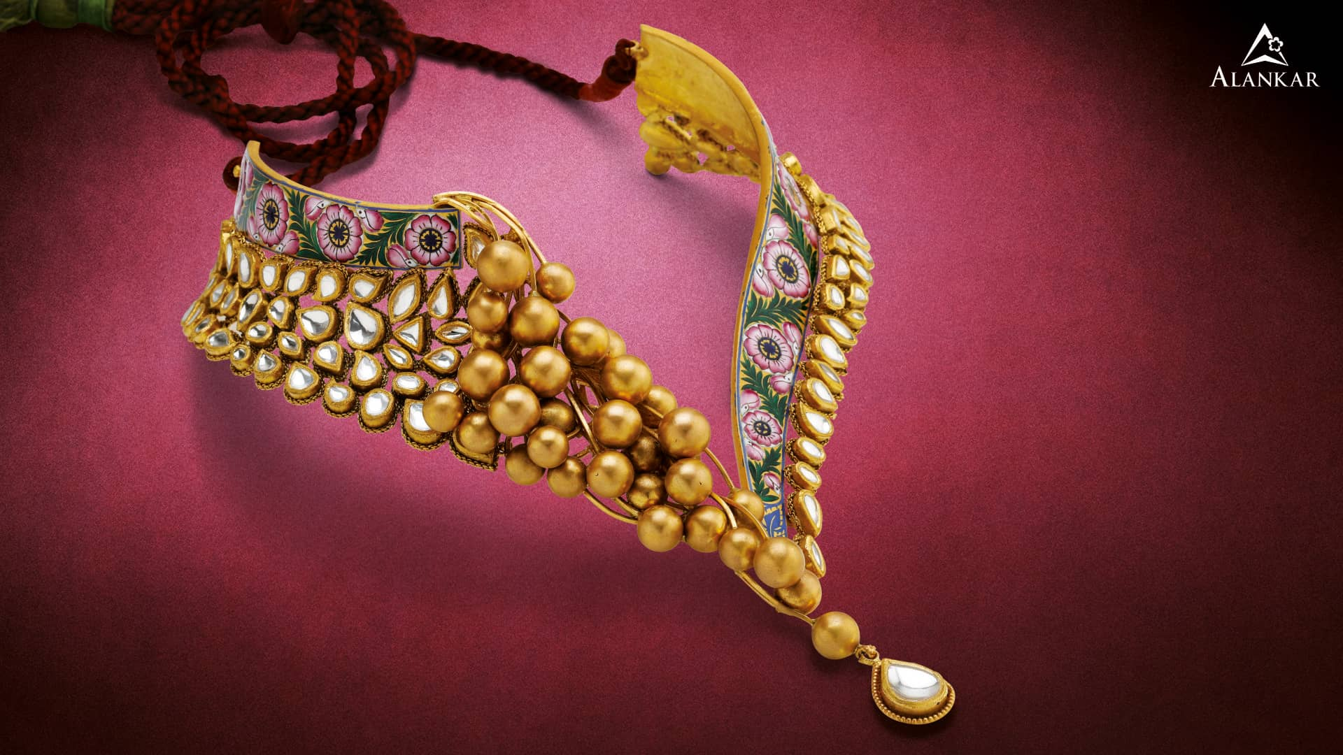 gold neckpiece(2)-Alankar Jewels