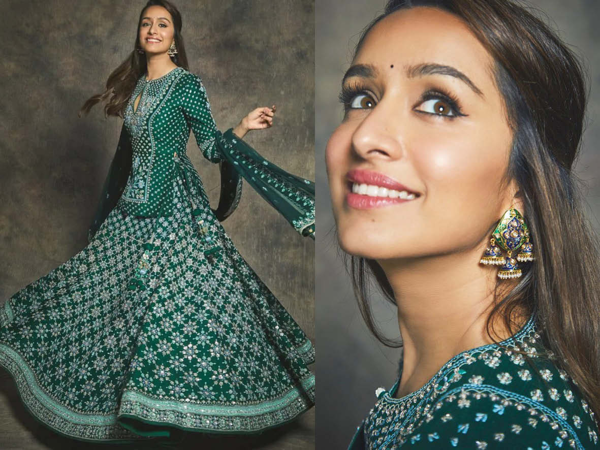 shraddha kapoor appear in just earrings