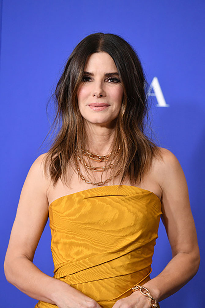 BEVERLY HILLS, CALIFORNIA - JANUARY 05: Sandra Bullock poses in the press room during the 77th Annual Golden Globe Awards at The Beverly Hilton Hotel on January 05, 2020 in Beverly Hills, California. (Photo by George Pimentel/WireImage)