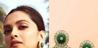 Deepika Padukone with polki earrings