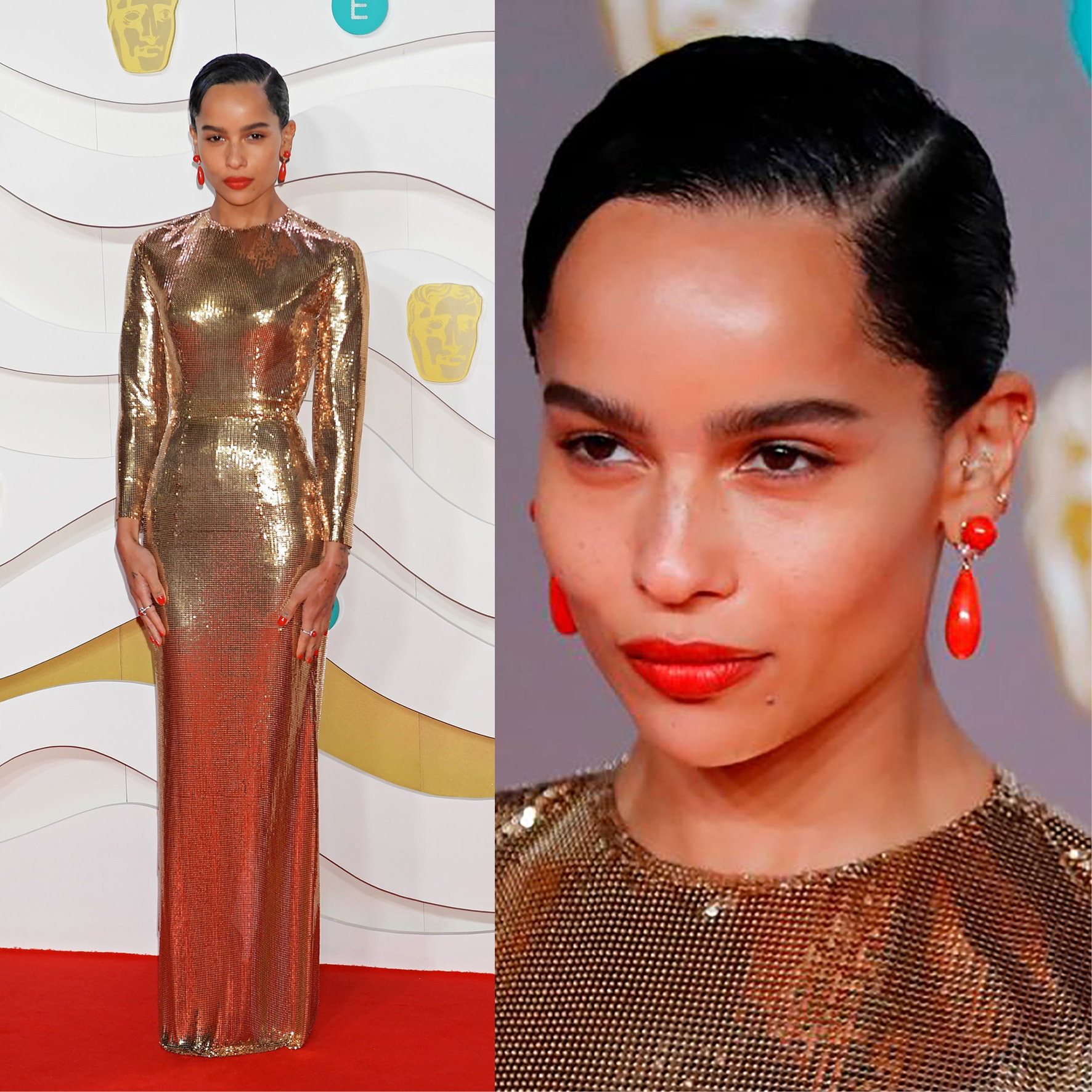 ZOE KRAVITZ at BAFTA 2020