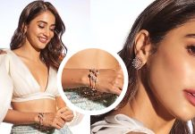 Pooja Hegde sported a pair of oversized cluster diamond studs by Jatin Mor Jewellers