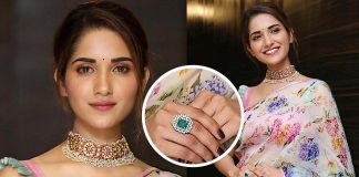 Ruhani Sharma showcased a splendid kundan and diamond choker