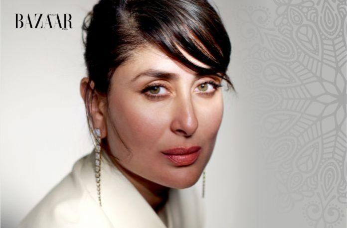 Kareena wearing diamond earrings from Malabar Gold and Diamonds