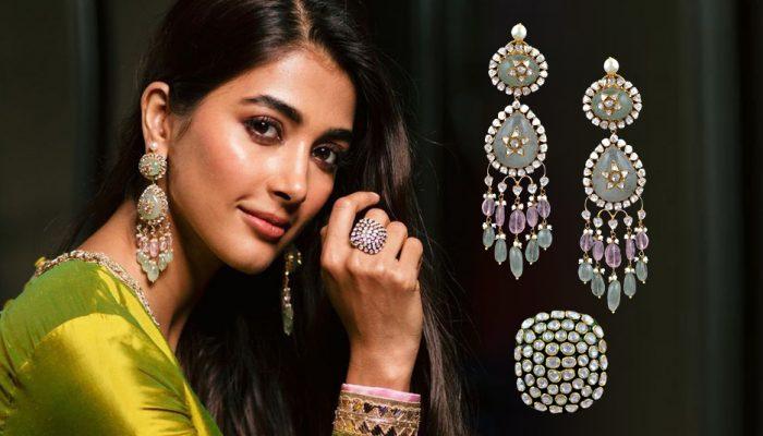 FB Cover - Pooja Hegde stuns in Russian emerald drop earrings by Manish Malhotra